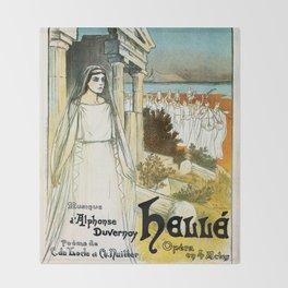 French opera ad Greek myth Helle 1896 Throw Blanket