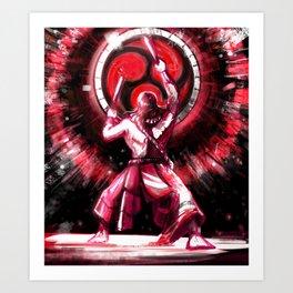 Taiko drummer Art Print