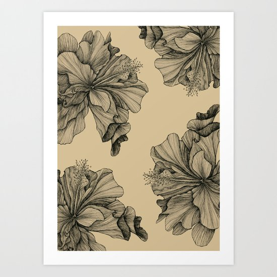 flor pattern Art Print