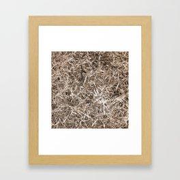 Grass Camo Framed Art Print