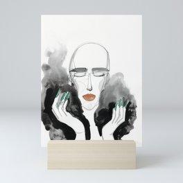 Charles in a Feather Boa Mini Art Print