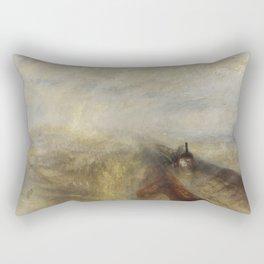 Rain, Steam and Speed – The Great Western Railway Rectangular Pillow