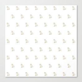 Classic Owl - White Canvas Print