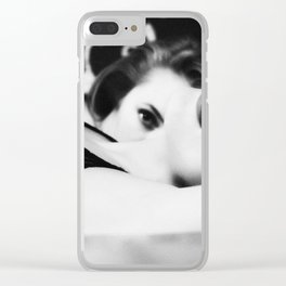 lesbians in bed Clear iPhone Case