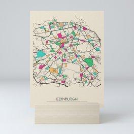 Colorful City Maps: Edinburgh, Scotland Mini Art Print