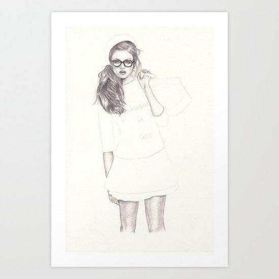 No.6 Fashion Illustration Series Art Print