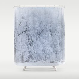 First Snow Fall Fresh Snow on Trees Nature Photography ~ Winter Hush Shower Curtain