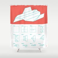 plain Shower Curtains featuring Paper Plain  by Astronutlab