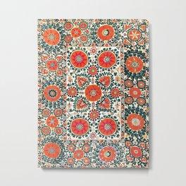 Shakhrisyabz Suzani Uzbek Embroidery Print Metal Print