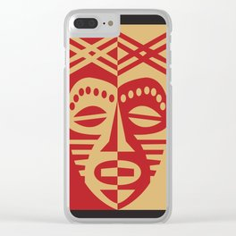 African Tribal Mask No. 3 Clear iPhone Case