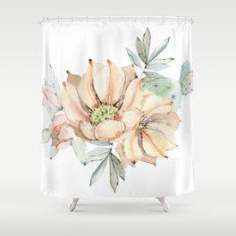 Coral Desert Roses Shower Curtain