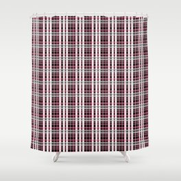 Pink and gray plaid Shower Curtain