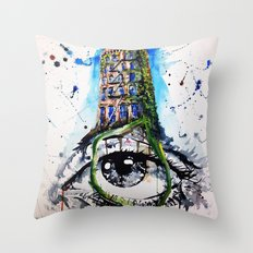 Eyeffel Tower Throw Pillow