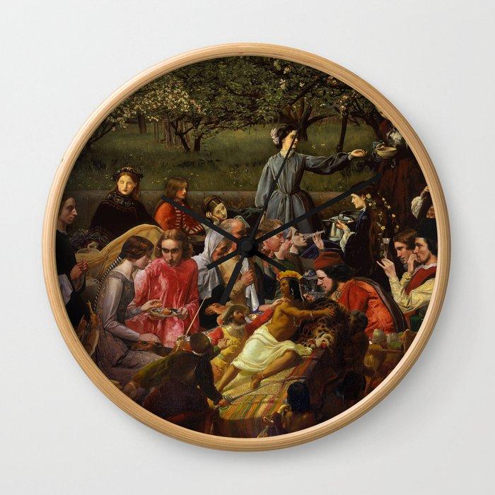 Grida Di Pizarro Nella Riunione Di Famiglia Isabella Wall Clock