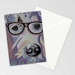 Smart Retriever Denim Tones Stationery Cards