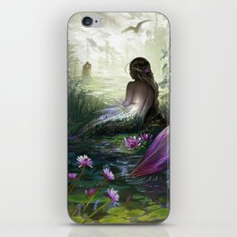 Little mermaid - Lonley siren watching kissing couple iPhone Skin