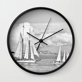 Puget Sound BW Wall Clock
