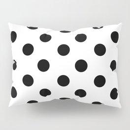 White & Black Polka Dots Pillow Sham