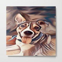 The Bandana Dog Metal Print