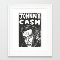 johnny cash Framed Art Prints featuring Johnny Cash by Peter Dunne