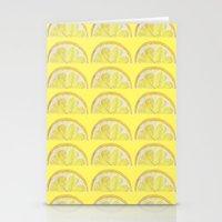 lemon Stationery Cards featuring Lemon by krrstnn