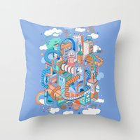 kpop Throw Pillows featuring George's place by Polkip