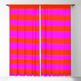 Sweet Stripes in Pink and Red Line Art #decor #society6 #buyart Blackout Curtain