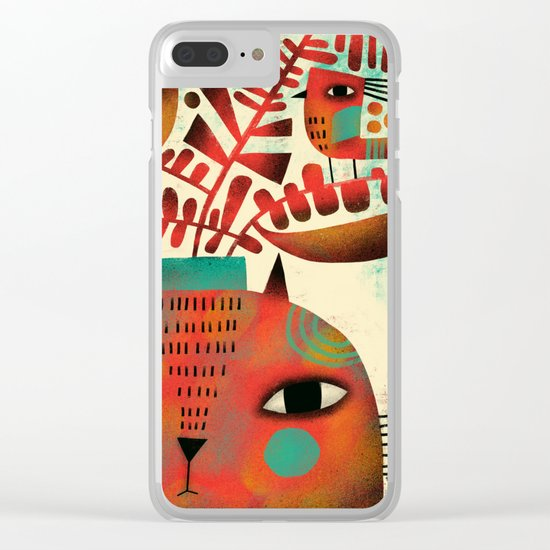 SPROUTING HEAD Clear iPhone Case