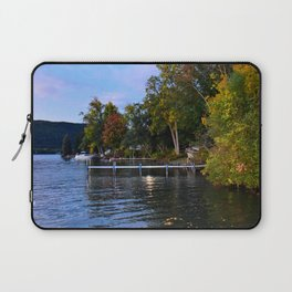 Autumn Arrives at the Lake Laptop Sleeve
