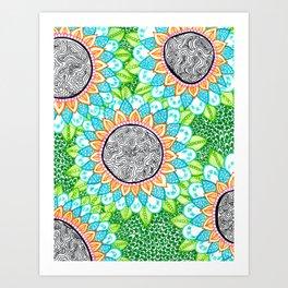 Sharpie Doodle 4 Art Print