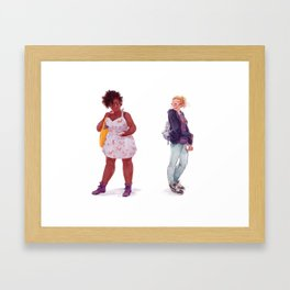 Tess and Claire Framed Art Print