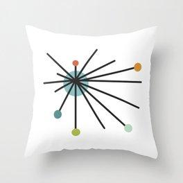 Vintage Atomic Age Mid Century Modern Throw Pillow