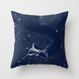 Starry Shark Throw Pillow
