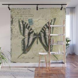 Zebra Butterfly Wall Mural