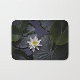 white water lily Bath Mat