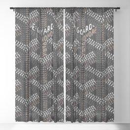 black france Sheer Curtain