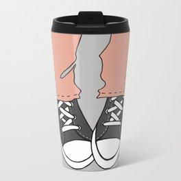 """Charcoal """"Kicks"""" Metal Travel Mug"""