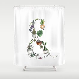 Succulent Ampersand Shower Curtain