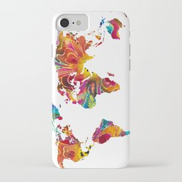 Map of The World 2 -Colorful Abstract Art iPhone Case