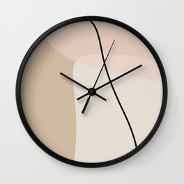 Abstract geometrical shapes. Wall Clock