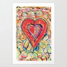 Jasper Heart Art Print