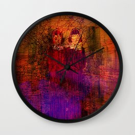 Lost in the city Wall Clock