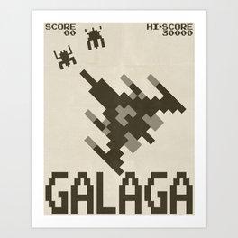 Galaga Vintage Poster Art Print