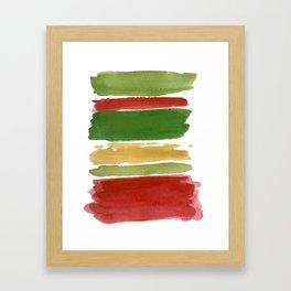 Christmas Colour Palette Framed Art Print