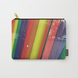 Rainbow Straws. Fashion Textures Carry-All Pouch