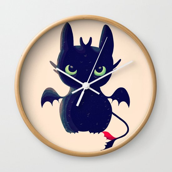 Night Fury Wall Clock
