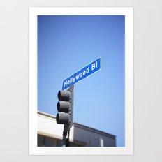 hollywood blvd sign (mobile) Art Print