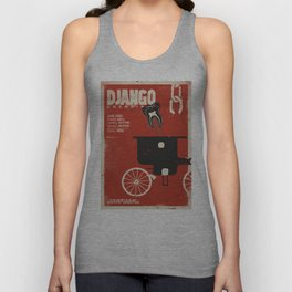Django Unchained, Quentin Tarantino, alternative movie poster, Leonardo DiCaprio, Jamie Foxx Unisex Tank Top