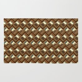 shiny elegant gold weave texture Rug
