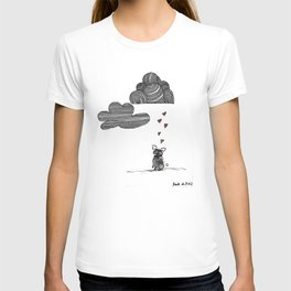 """""""Clouds are not clouds"""", french bulldog art by BoubouleArt T-shirt"""